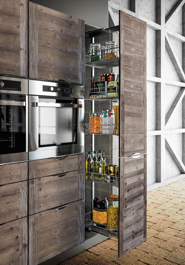 Cervin mod le de cuisine bois moderne sagne cuisines for Modele de cuisine en bois