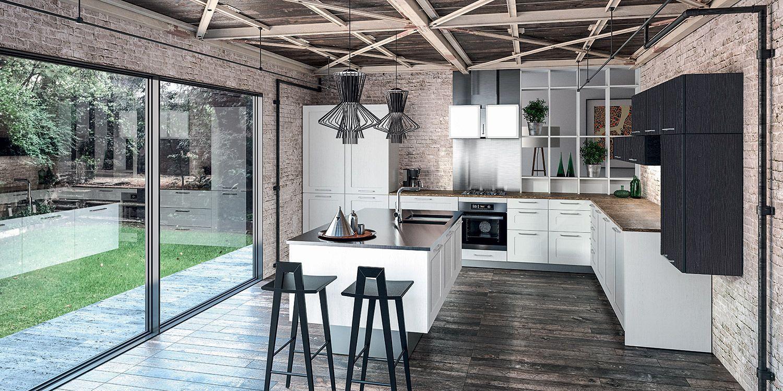 Aravis malm mod le de cuisine bois moderne sagne cuisines - Modele cuisine bois moderne ...