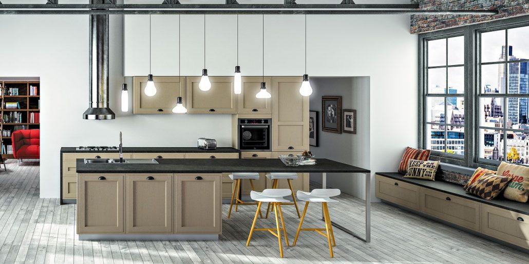 Arbois mod le de cuisine bois moderne sagne cuisines for Modele cuisine en l