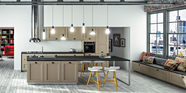 Arbois mod le de cuisine bois moderne sagne cuisines - Installer un plan de travail sans meuble ...