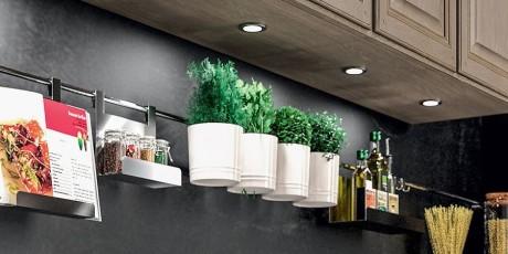 Éclairage cuisine spot à leds intégrés sur cuisine Lavaissière