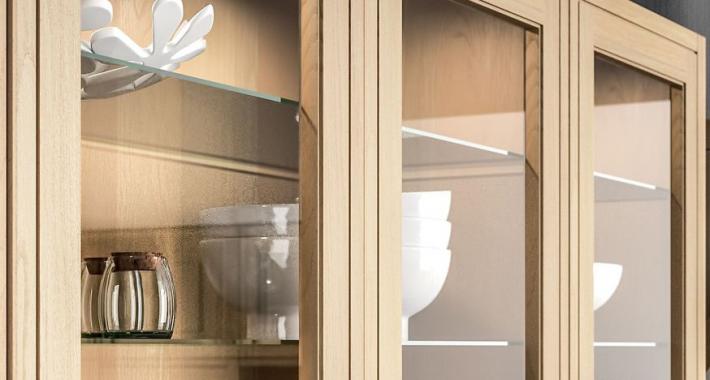 Étagère verre meuble cuisine sur cuisine Loxley