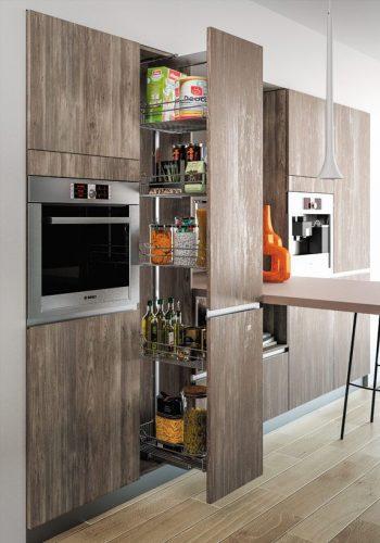 Armoire télescopique cuisine-Modèle Étoile structurée