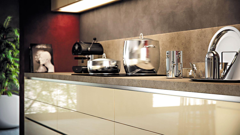 Sans poign e inoxy sagne cuisines for Porte pour meuble de cuisine