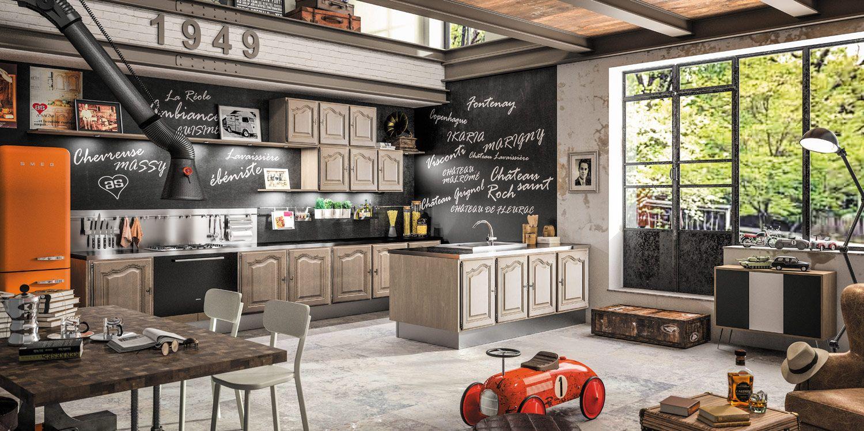 Lavaissi re cuisine bois rustique sagne cuisines for Cuisine integree en bois