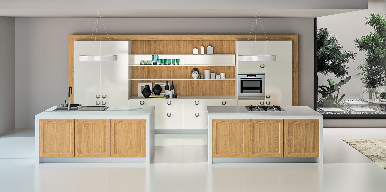 Liao targa cuisine moderne bois et laque sagne cuisines - Meuble cuisine exterieure bois ...