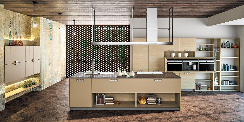 Cuisine moderne et contemporaine linxia asko a for Cuisine bois clair moderne