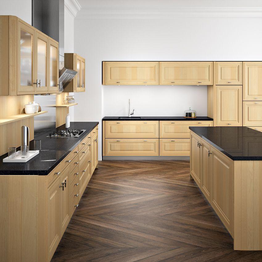 Cuisine bois clair sagne cuisines - Cuisine blanche et bois clair ...