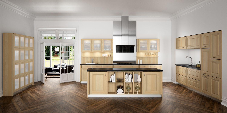 Loxley cuisine bois rustique sagne cuisines - Cuisine amenagee chene clair ...