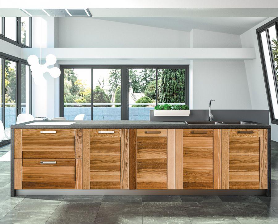 Meg ve cuisine bois moderne sagne cuisines - Modele cuisine bois moderne ...