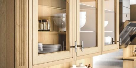 porte vitrée - sagne cuisines - Meuble Haut Cuisine Vitre