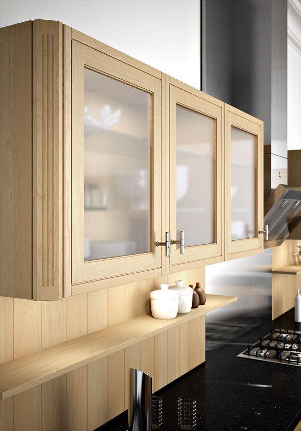 Porte vitr e sagne cuisines Meuble haut cuisine porte vitree avec etage