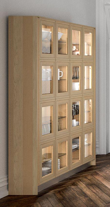 Porte de cuisine vitrée sur cuisine Loxley