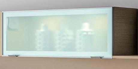Caisson de cuisine vitré éclairé à LED sur living