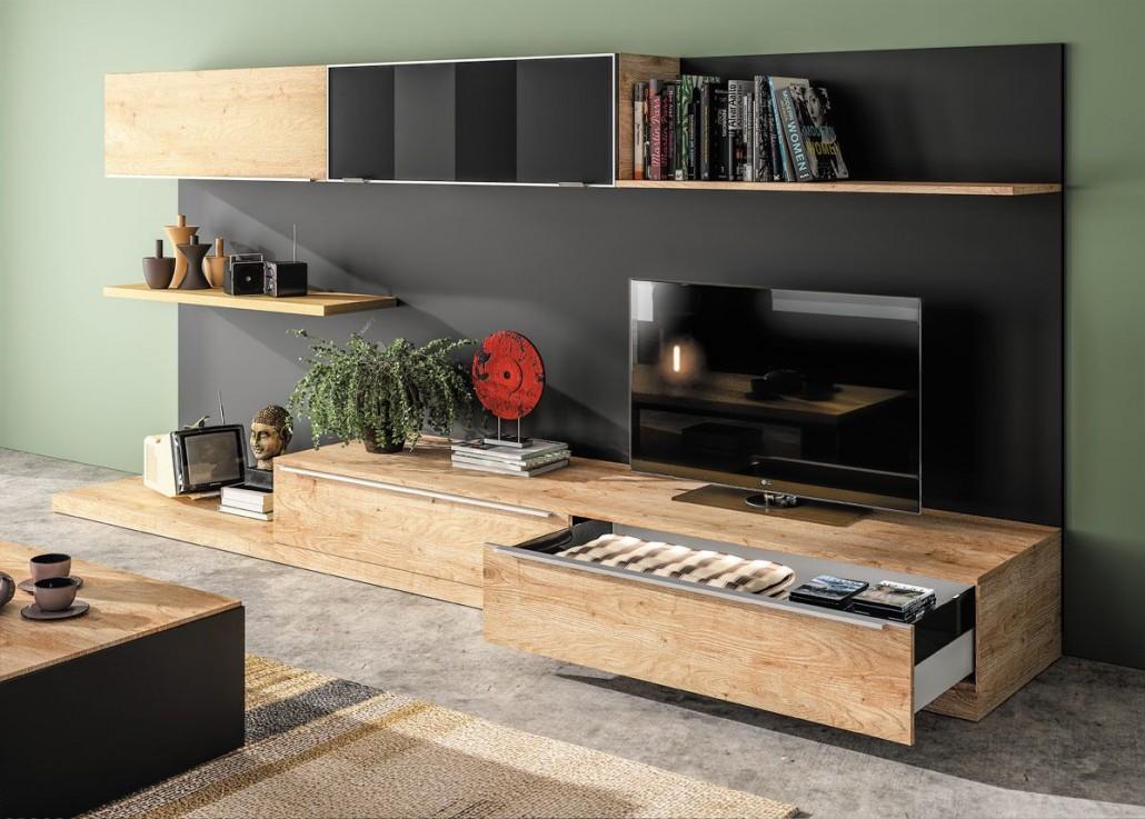 meuble de living tendance industriel