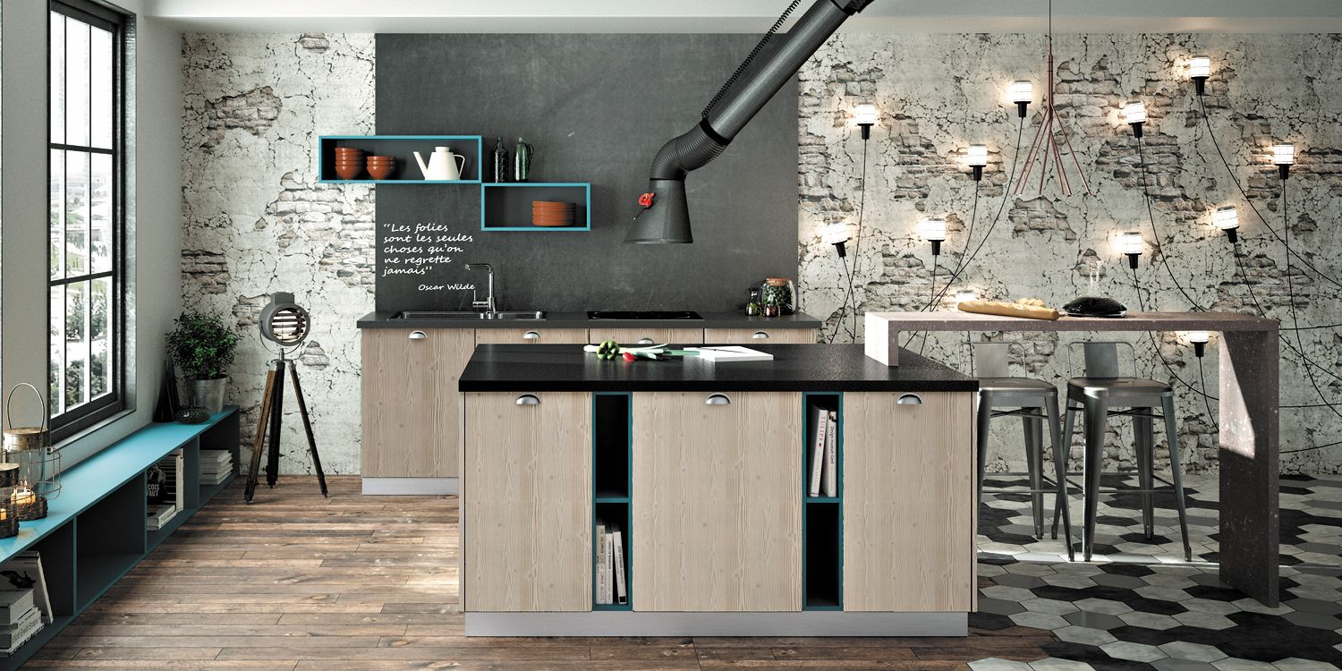lounge mod le de cuisine moderne premier prix chez sagne cuisines. Black Bedroom Furniture Sets. Home Design Ideas