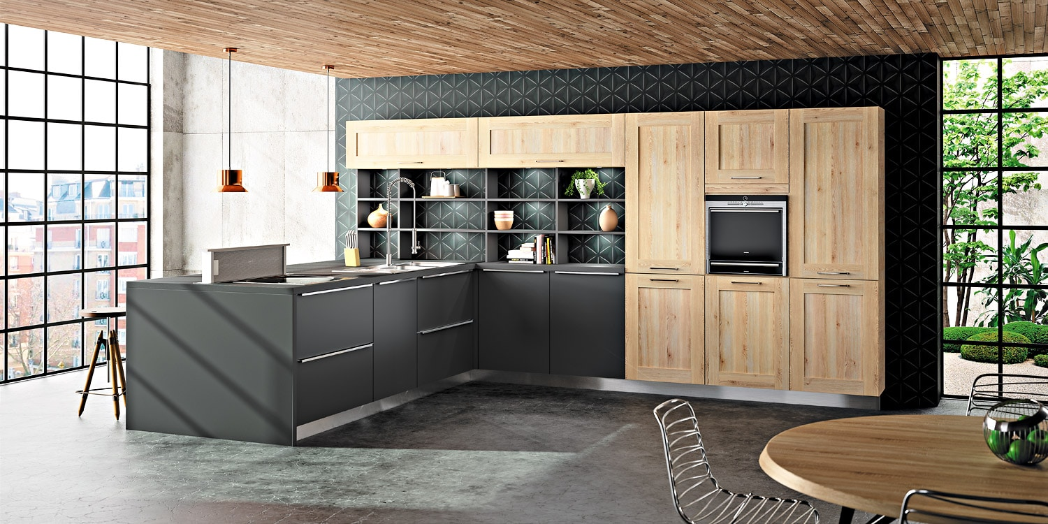 bor al lima mod le de cuisine bois moderne sagne. Black Bedroom Furniture Sets. Home Design Ideas
