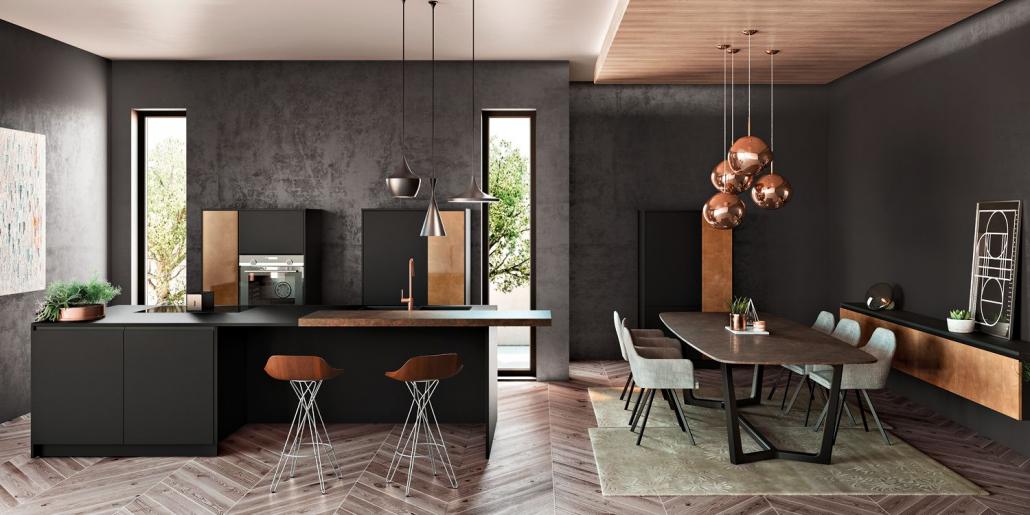 Cuisine bois moderne Vogue Gloss - Chimère