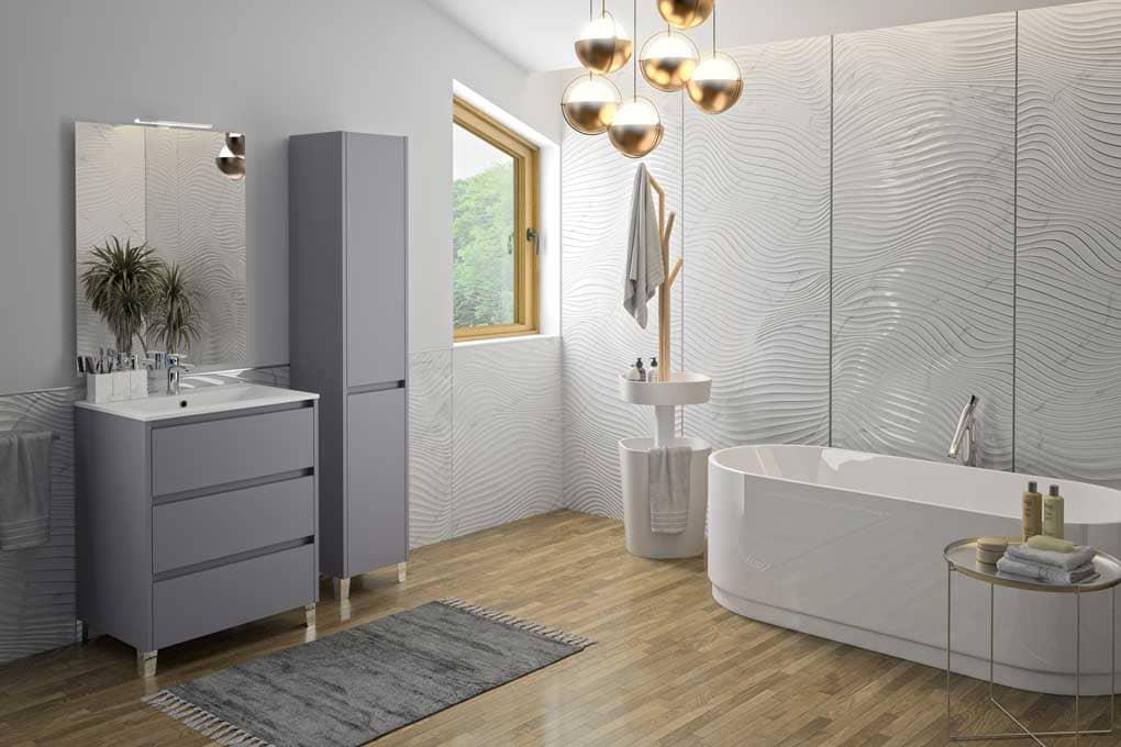 Meuble de salle de bains par Ekimob